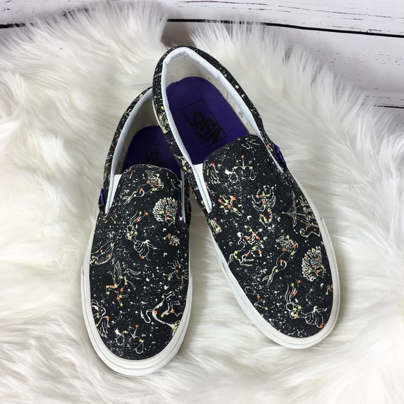 Vans Black Zodiac Signs Liberty Canvas Sneakers